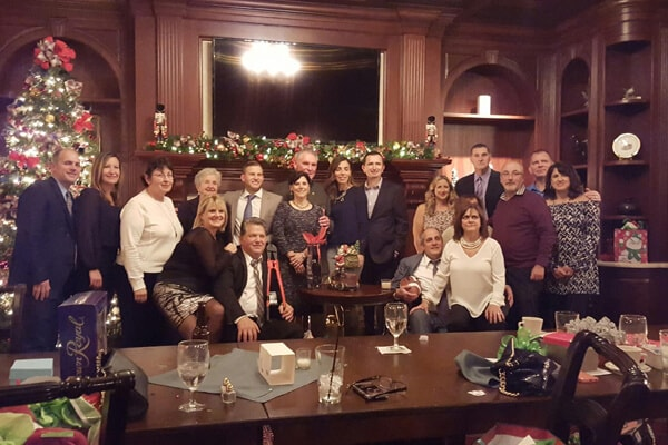 The Fredal Orthodontics family at a christmas dinner